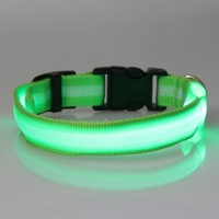 LED Flashing Dog Pet collar colorful Light Safety Flashing cat Safety Collar 3 size