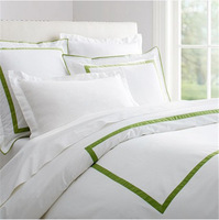 Egyptian cotton bed linen 4pc fashion stripes bedding set luxury solid white comforter bedding sets export quality bedclothes