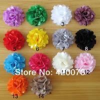 "70 Pcs/lot 2"" Mini Satin Flower,Net Satin Flower,DIY Headband Hair Accessories  CNLY02"