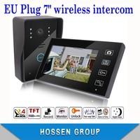"KEEDOX  7"" 1V1 Wireless Intercom System Video  Doorbell EMS/DHL fast shipping"