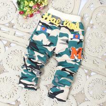 denim capri 2014 sports pants casual pants child pants personality Camouflage children pants summer(China (Mainland))