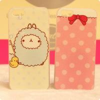For i4/4S/5 case cartoon sheep polka dot bow protective case