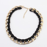 Europe and the trend of big shop sign fluorescent color necklace#104434#H111