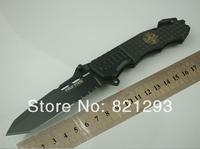 COLD STEEL OEM 229 RESCUE Camping Survival Folding Knife 7Cr17 57HRC Blade Black Aluminium Handle