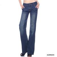New fashion women's wide leg jeans large size loose bootcut denims XMY14-900