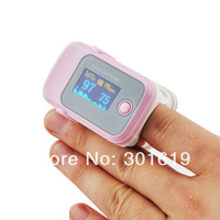 CE NEW Color OLED Fingertip Pulse Oximeter with Audio Alarm & Pulse Sound - Spo2 Monitor Pink