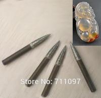 10pcs 4x40x0.8mm CNC router jade engraving bits, jade engraving tools. Free Shipping