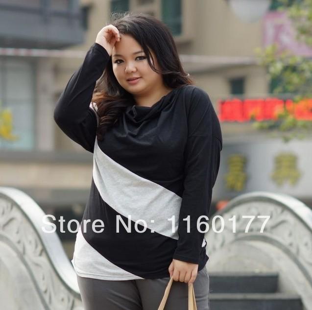big sizes 2014 new summer T-shirts Pangniu real shot was thin long-sleeved collar fall high quality clothes free shipping(China (Mainland))