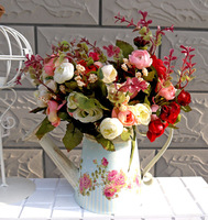 Artificial Flowers Silk Flower Artificial Roses Party Decoration Wedding Flowers Bridal Bouquets Fake Flowers
