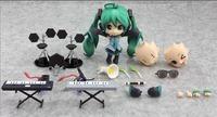"ANIME VOCALOID Nendoroid 129# Green Hatsune Miku 4"" Figure Face Changeable Gift"