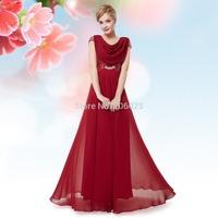 Free Shipping  09989  Halter V-neck Elegant Fashion Purple Prom Long Party Dress  2014