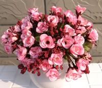 Home Decoration Wedding Decor Artificial Rose Plastic Flowers Display Flores Bouquet