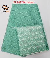 2014 hot sale special design soft fabric aqua wholesale cord lace VL10774-5