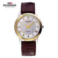 Genuine Swiss watches waterproof ultra thin quartz watch unisex business casual retro leather belt strap wristwatch man women
