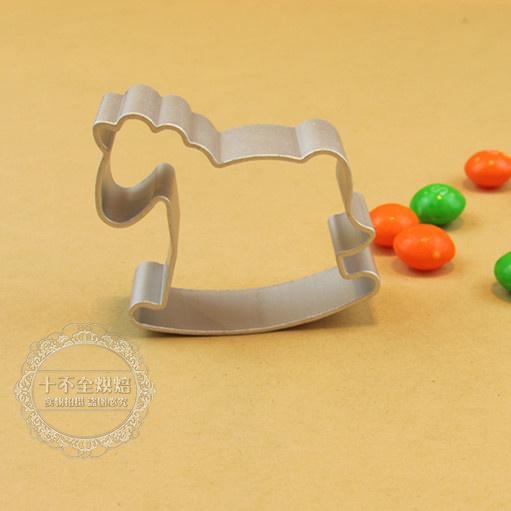 Liga Hot novo anel bolo de abacaxi bolo de molde ânodo molde forma de cookie chegada pequeno cavalo biscuit frutas módulo de cisalhamento de alumínio(China (Mainland))