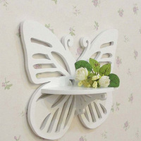 White Butterfly Hooks Carved Wooden Decorative Hangers Home Decoration Clothes Rails gancho de madeira Hook Hanger