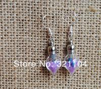 Beautiful!! 100set/lot tear drop glass bottle/glass bubble /glass vial earing Ear hook DIY NEW 2014