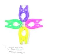 Multicolor plastic slip hanger foldable portable hanger magic hanger travel trip free shipping 10pcs