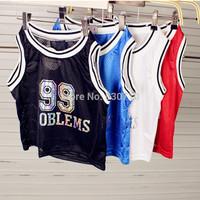 new 2014 summer casual HARAJUKU women cute desigual 99 basketball girl short t shirt crop top cropped Vest Tops Tee Shirt Blouse