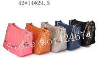 2013 New design fashion Woman boston Totes bag Wholesale M Handbags PU brand leather free shipping