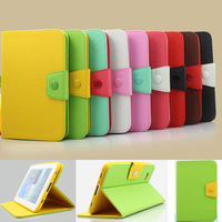 Newest Mixed Colors Belt Leather Case for Samsung Tab2 7 Foldalbe Stand Smart Cover for Samsung Galaxy Tab 2 7.0 P3100 P6200