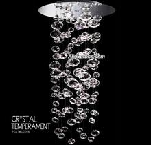Modern Crystal LED Pendant Light GU10 4 pcs Glass Pendant Light AC85~265V Crystal Chandelier Pendant Lamp L039 DHL Free(China (Mainland))
