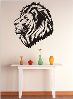 Free shipping Lion Avatar Carved Home Art Wall Stickers Removable Vinyl Home Decor Wallpaper