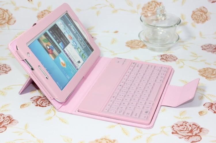 "For Samsung Galaxy Tab 2 7.0"" P3100 P3110, Galaxy Tab 7'' Plus P6200 P6210 Stander Leather Case + Wireless Bluetooth Keyboard(China (Mainland))"