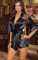 Black rose home robe fashion sexy lingerie lace perspective bathrobe sauna bathrobe plus size #1062