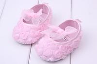 2014 DESIGN 1pair Rose flower Baby First Walkers Brand Girl Soft Shoes+AGE3-15 M,toddlers/Newborn Prewalker, antiskid kid Shoes