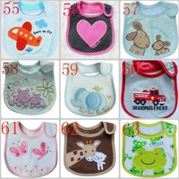 Free shipping 5pcs/lot cotton Baby boys girls bibs Infant embroidered saliva towels carter's Baby Waterproof bib Carter wear