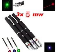 red laser point green laser pointer Bule Purple laser point pen 5mW 532nm kit Fixed Focus Presenter Beam X 2PCS