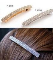 Brief And Fashion Full Crystal Barrettes Charming Women Hair Clip Korean Fashion Jewelry SF360