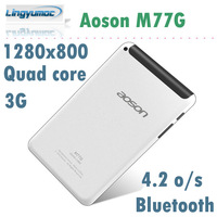 Aoson M77G 7 inch Quad core 3G Tablet With phone call Android 4.2 Allwinner A31S WCDMA Bluetooth 5.0Mp Camera 1GB/8GB 1280x800