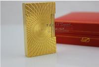 STDupont Lighter Genuine broke the golden sunflower pattern A098