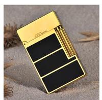 STDupont lighter copper plate light cover broke the sound loud enough big black + gold luxury box