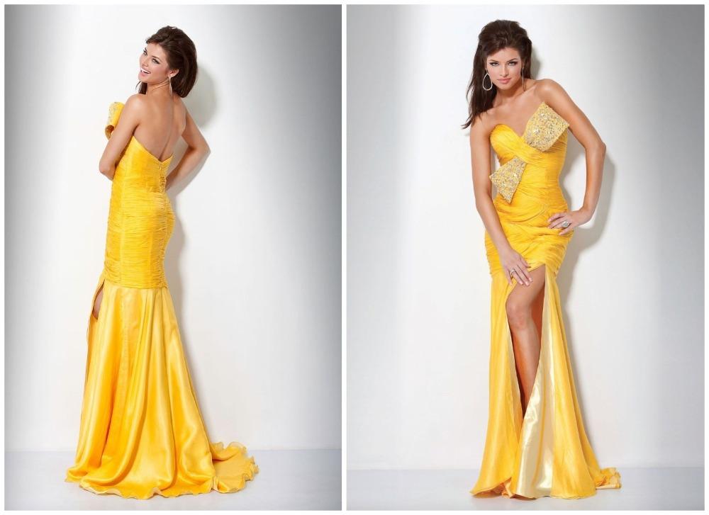 Yellow Mermaid Prom Dresses 2014 Mermaid Prom Dresses 2014