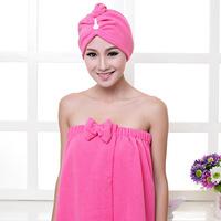 Ultrafine fiber tube top bath towel bathrobes variety magic bath towel shower cap dry hair hat set g455 free shipping+gifts