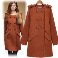 free shipping Fashion women's  medium-long woolen trench woolen outerwear slim overcoat women's  woolen coat