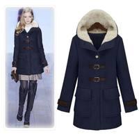 autumn and winter women fashion medium-long normic slim woolen outerwear woolen overcoat outerwear female