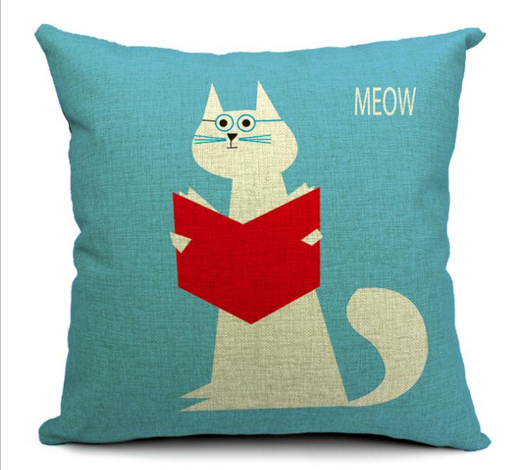 Estrela bonito dos desenhos animados do gato que miau algodão travesseiro capa de almofada almofada do sofá do escritório cochilo travesseiro almofada grossa para sofá ou cama cat05(China (Mainland))