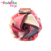 New Designer Fashion Rose Flower Fabric Hair Claws Clips Clamp Accessories For Women Wholesale Girls Jewelry  Free Shipping