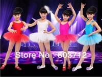 Children dance tulle dress girl ballet suspender dress fitness clothing performance wear leotard costume free shipping