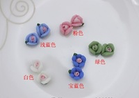 Diy accessories handmade diy hair accessory material 5mm ceramic flower rhinestone pasted nail art accessories free shipping