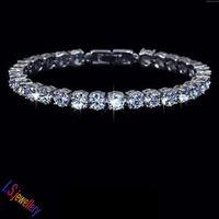Latest Charm AAA+ Round 0.5 carat Swiss Cubic Zirconia Diamond Tennis Bracelet for woman