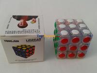 10pcs/lot yongjun YJ linggan 3x3 speed cube twist puzzle magic cube Free Shipping