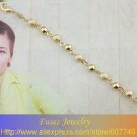 ISZ00888 18K gold plated Filled ball Bracelet 2pcs/lot