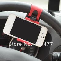 Free Shipping High Quality Silicon Car Steering Wheel Phone Socket Holder,Mini Phone Holder,Universal Mount Holder