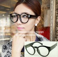 Large frame plain mirror black glasses 2046 7.5  10pcs