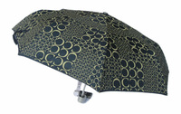 6390,Free Shipping,Classic Gear,Deep Blue C Manual Umbrella,Italy Design,8K,3-fold,190T Pongee&C Pattern,Foreign Order Stock